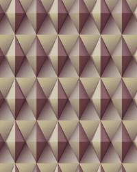 Paragon Geometric Wallpaper Burgundy by