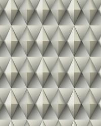 Paragon Geometric Wallpaper Grey  Gray by