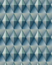 Paragon Geometric Wallpaper Blue by