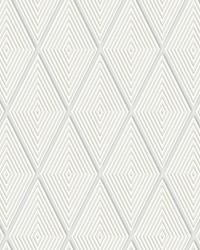 Conduit Diamond Wallpaper White by