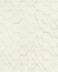 Tiled Hexagon Wallpaper White by