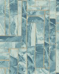Moonbeams Wallpaper  Indigo by