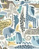 York Wallcovering DwellStudio Baby & Kids Jungle Puzzle                                      Blues /Browns /Yellows