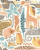 York Wallcovering DwellStudio Baby & Kids Jungle Puzzle                                      Oranges /Yellows /Browns