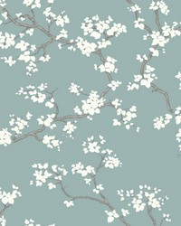 Branches Wallpaper Blue by