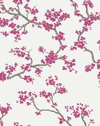 Branches Wallpaper Pink by