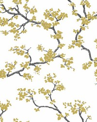 Branches Wallpaper Gold by