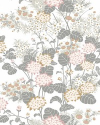 Chinese Floral Wallpaper Blush by