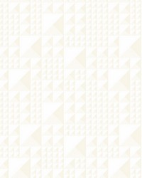 Pyramids Wallpaper White by