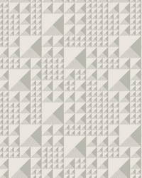 Pyramids Wallpaper Gray by