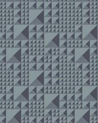 Pyramids Wallpaper Dark Gray by