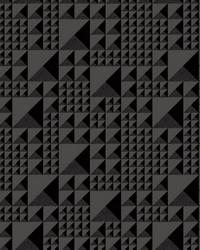 Pyramids Wallpaper Black by