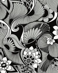Aubrey Wallpaper Black by