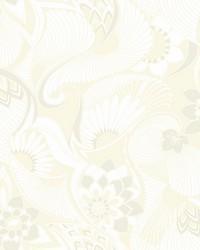 Aubrey Wallpaper White by