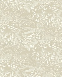 Waterfall Gardens Wallpaper Taupe by