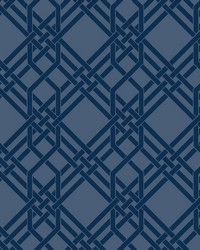 Pagoda Wallpaper Indigo by