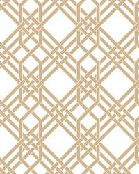 Pagoda Wallpaper Gold by