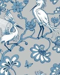 Egrets Wallpaper Blue by