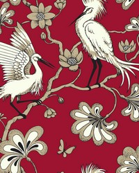 Egrets Wallpaper Red by