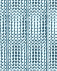 Japanese Panels Wallpaper Blue by
