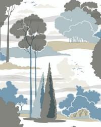 Macarthur Park Wallpaper Blue by