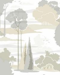 Macarthur Park Wallpaper Tan  Grey by