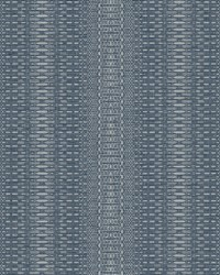 Market Stripe Wallpaper Navy by
