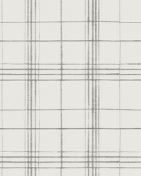 Farmhouse Plaid Wallpaper Beige Gray by