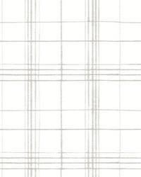 Farmhouse Plaid Wallpaper Linen White by