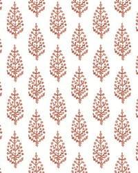 Paisley On Calico Wallpaper Orange by
