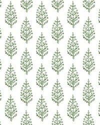 Paisley On Calico Wallpaper Green by