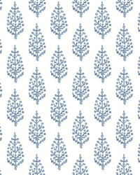 Paisley On Calico Wallpaper Blue by