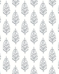 Paisley On Calico Wallpaper Gray by