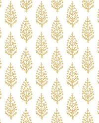 Paisley On Calico Wallpaper Yellow by
