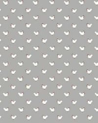 Roost Wallpaper Gray Red by