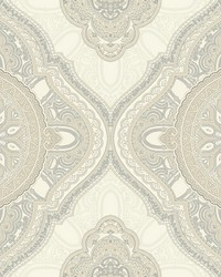 Paisley Medallion Wallpaper Beige by