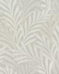 Tea Leaves Stripe Wallpaper Lt Grey by