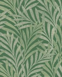 Tea Leaves Stripe Wallpaper Green by