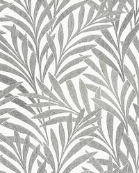 Tea Leaves Stripe Wallpaper Cream Black by
