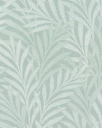 Tea Leaves Stripe Wallpaper Blue by