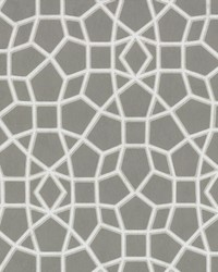 Sculptural Web Wallpaper Grey by