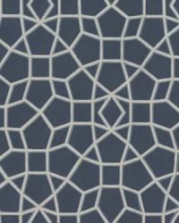 Sculptural Web Wallpaper Blue by