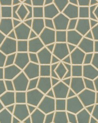 Sculptural Web Wallpaper Dark Green Gold by