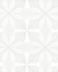 Roulettes Wallpaper Lily White Cream by