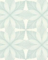 Roulettes Wallpaper Cream Lt Blue by