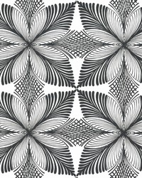 Roulettes Wallpaper Cream Black by