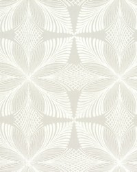 Roulettes Wallpaper Grey White by