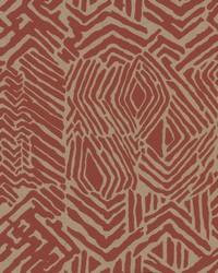 Tribal Print Wallpaper Red Tan by