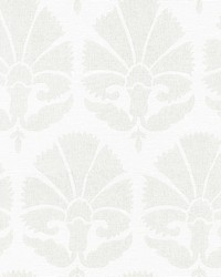 Ottoman Fans Wallpaper Lily White Cream by