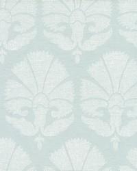 Ottoman Fans Wallpaper Lt Blue White by